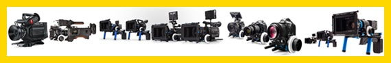 Digital cinema cameras rental in Italy