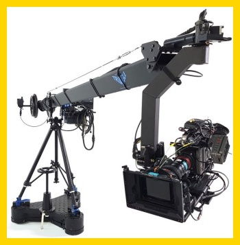 Jib crane rental services to Italy for television and